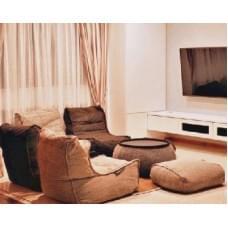 Бескаркасная мебель в обстановке