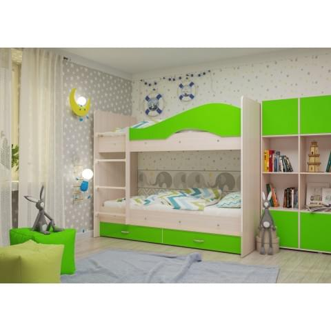 Кровать 2-ярусная Мая с ящиками
