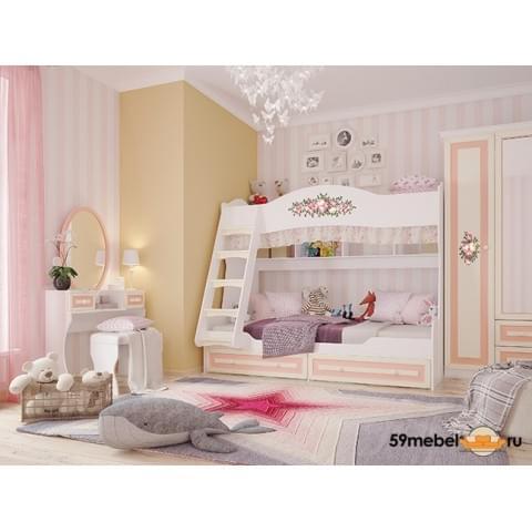 Кровать 2-ярусная Алиса