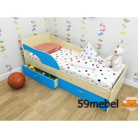 Кровать Антошка с бортиком