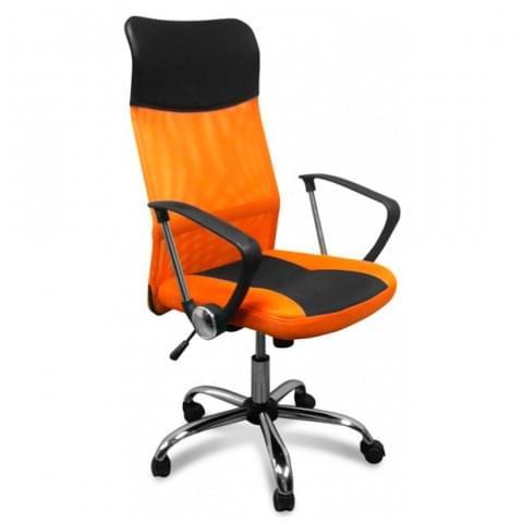 кресло 8011-MSC черно-оранжевый