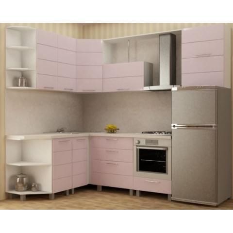 Кухонный гарнитур Техно-Розовый