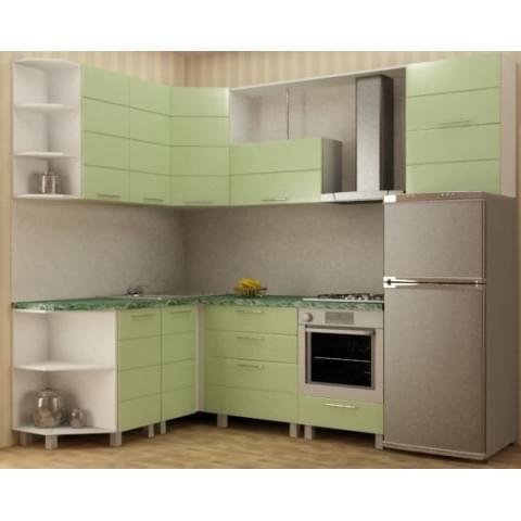 Кухонный гарнитур Техно-Салатовый
