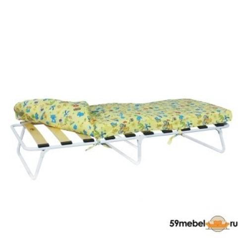 Кровать раскладная малая на ламелях с мягким матрасом Марфа - М1