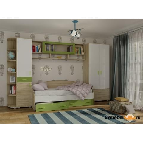 Спальня Максимка-2Н ЗЕЛЕНОЕ ЯБЛОКО