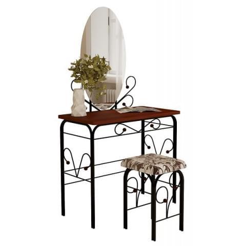 столик дамский ГЗМИ (черный/орех)