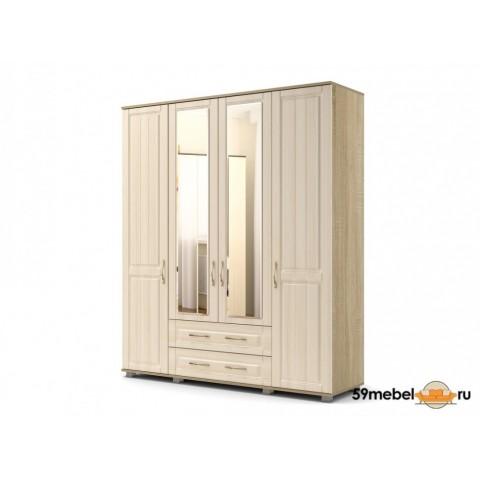 Шкаф 4х створчатый Лаура с зеркалом