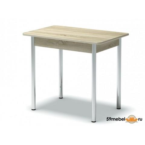 Стол обеденный закругленный ноги хром
