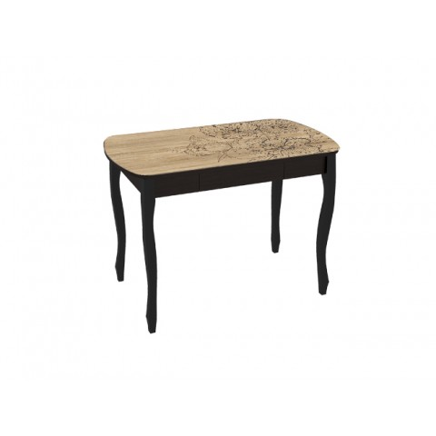 Стол обеденный Экстра-1 с ящиком венге/Капучино