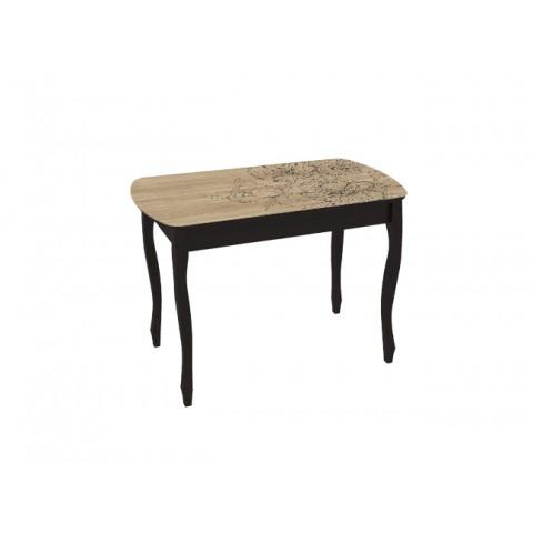 Стол обеденный Экстра-2 раскладной венге/Капучино