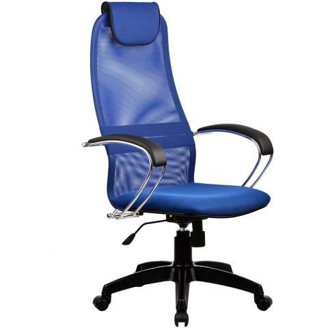Кресло Галакси Лайт BK-8 Pl №23 (синяя сетка)