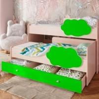 Кровать выкатная Соник с ящиком