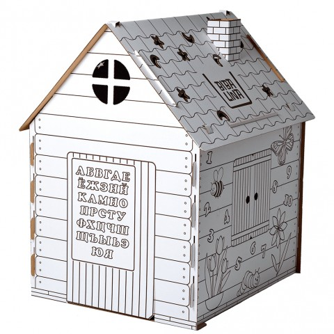 Игровой картонный домик-раскраска Бибалина (Bibalina)