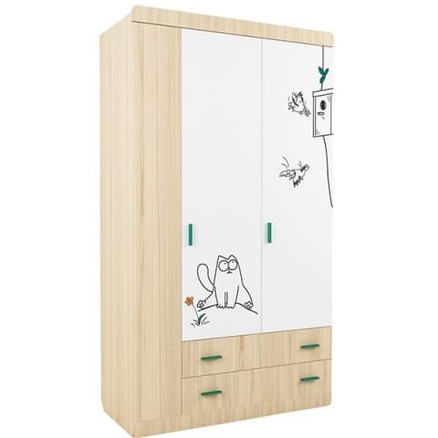 Шкаф 3-створчатый 1150 Кот 25