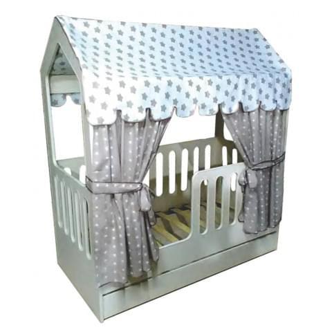 Кровать-домик с ящиком