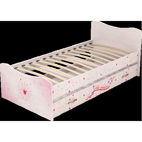 Кровать детская Принцесса с выдвижным спальным местом (модуль №4)
