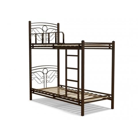 Кровать 90 ФАНТАЗИЯ-2 (2-х ярусная металлическая)