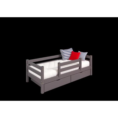 кровать детская Соня c защитой по центру (вариант 4) + ящики