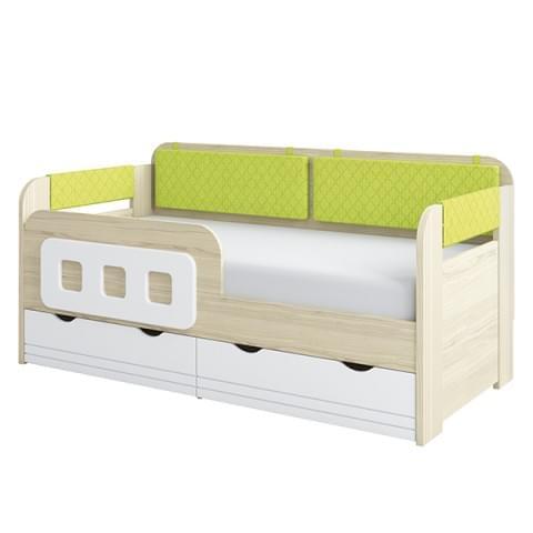 Кровать-тахта Стиль 800.4 с бортиком и подушками
