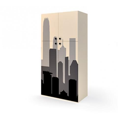 Шкаф широкий 4 двери Бэтмен