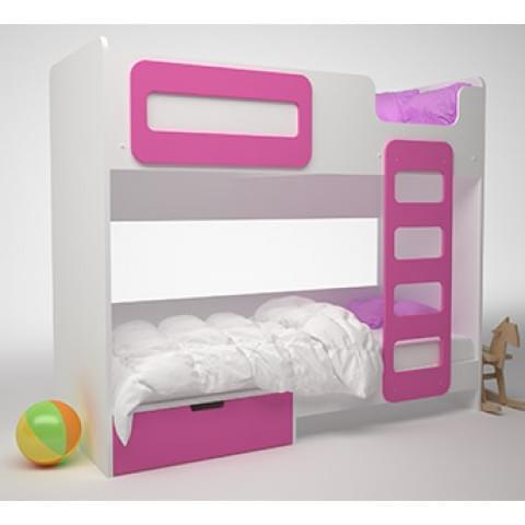 Кровать детская 2-ярусная Брусника с ящиками