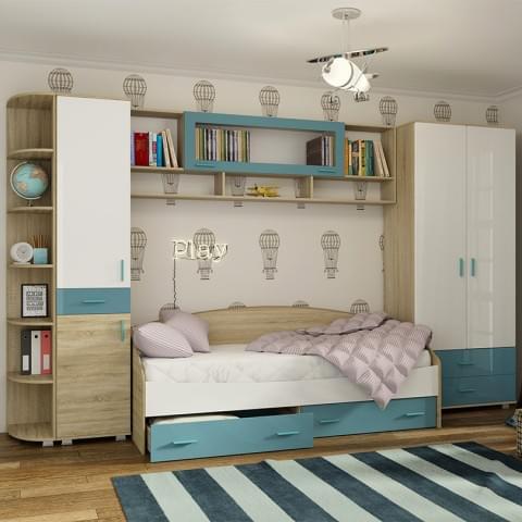 Спальня Максимка-Н Аквамарин Комплект 1