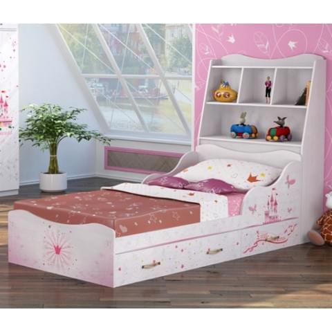 Кровать Принцесса с изголовьем и ящикам (компл.1 №5 + №8)