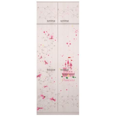 Шкаф для одежды Принцесса с антресолью (модуль №1 + модуль №2)
