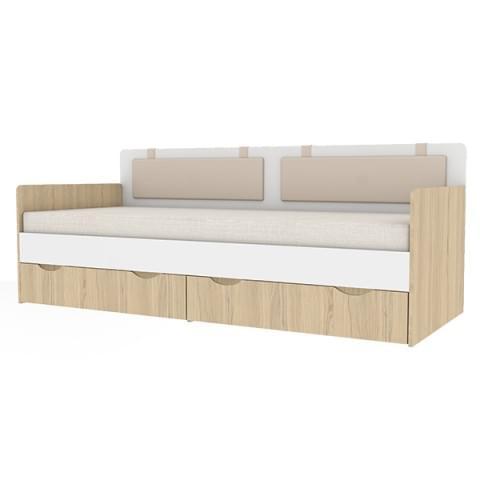 Кровать-тахта Кот 900.4 с ящиками и подушками