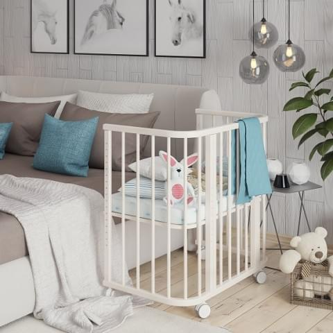 Кроватка детская приставная Эстель