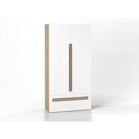 Шкаф 2-створчатый с ящиком Палермо-Юниор