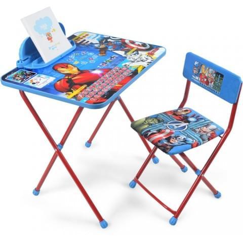 Комплект детской мебели Disney «Мстители» с рисунком столешницы Железный человек (арт. Д4А)