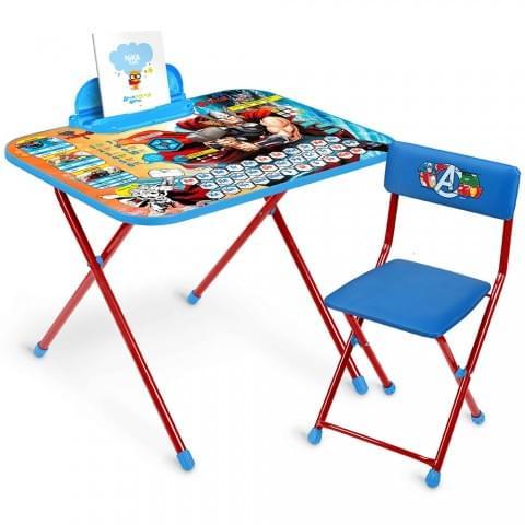 Комплект детской мебели Disney «Мстители» с рисунком столешницы Тор (арт. Д5А)