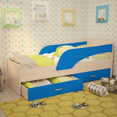 Кровать детская Антошка с бортиком на латах