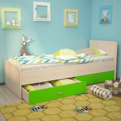 Кровать детская Антошка c ящиками на щитах