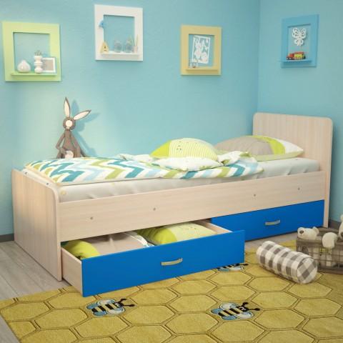 Кровать детская Антошка c ящиками на латах