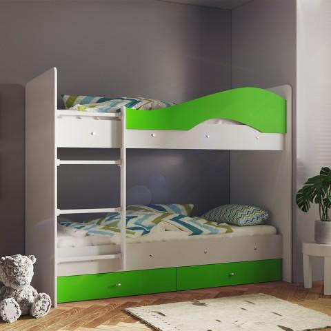 Кровать детская 2-ярусная Мая с ящиками