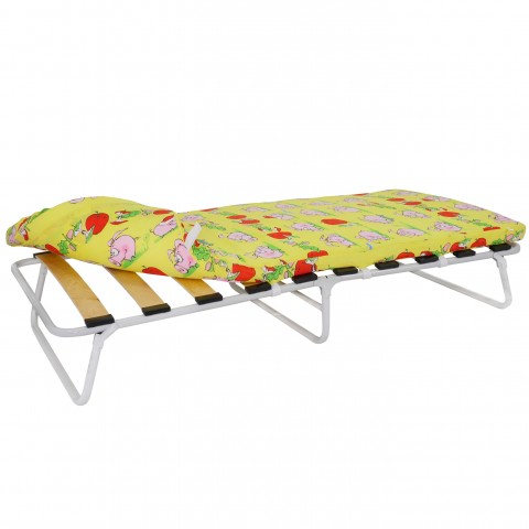 Кровать раскладная малая на ламелях с мягким матрасом Марфа-М1