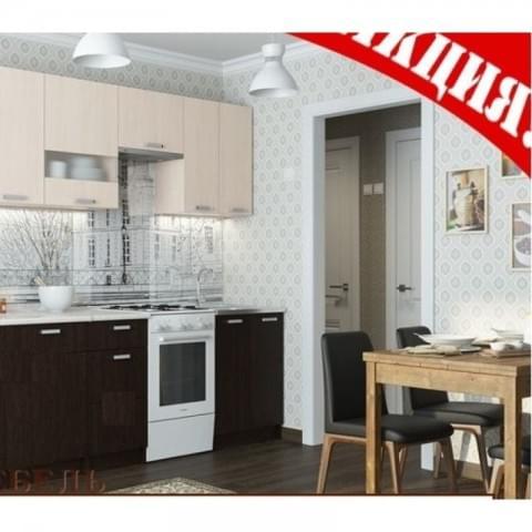 Кухонный гарнитур Розалия 1.7 венге/млечный дуб
