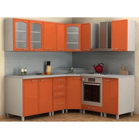 Кухонный гарнитур Мила-Оранжевый