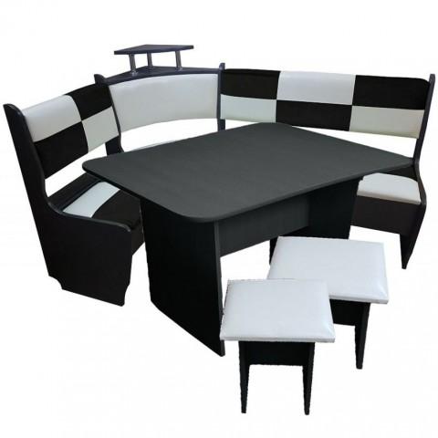 Кухонный уголок Домино стандарт (1000х1500), стол и 2 табурета (Комплект)