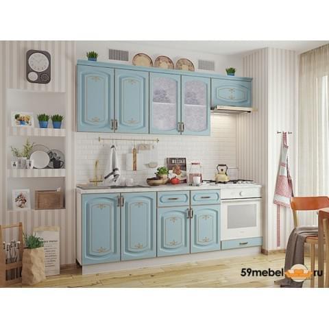 Кухонный гарнитур Бергамо-Голубой