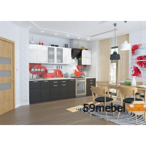 Кухонный гарнитур Виктория-Белый/Венге