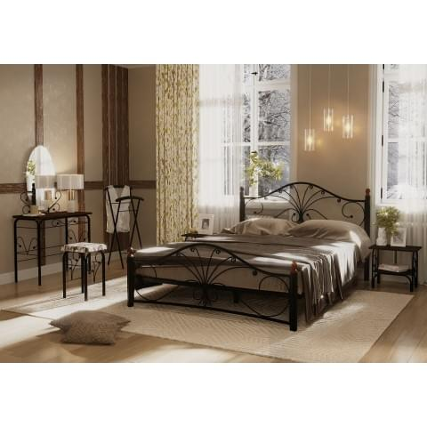 Кровать Фортуна-2 черный/черный 1.6