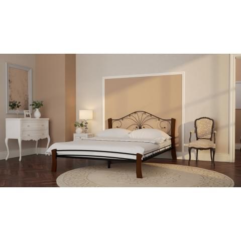 Кровать Фортуна-4 Лайт черный/махагон 1.2