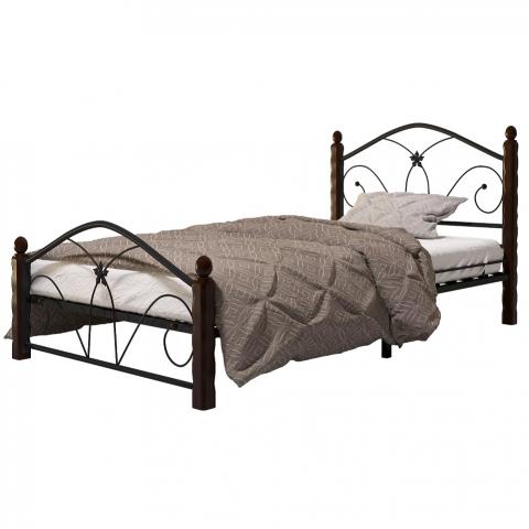 Кровать Селена-1 чёрный/шоколад