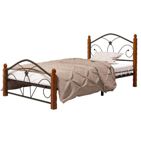 Кровать Селена-1 чёрный/махагон
