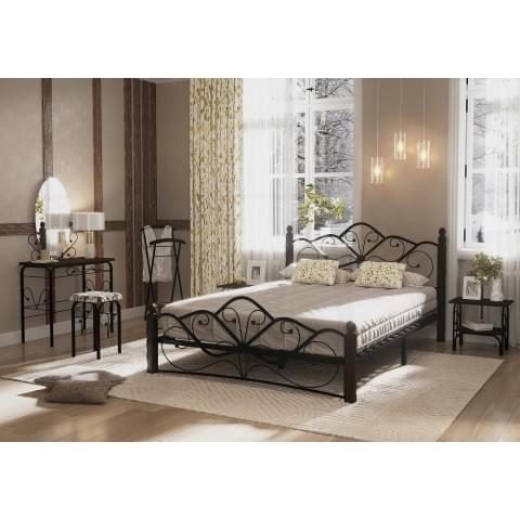 Кровать Венера-1 черный/шоколад 1.4
