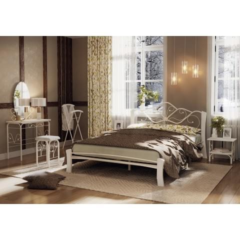 Кровать Венера-4 Лайт белый/белый 1,6
