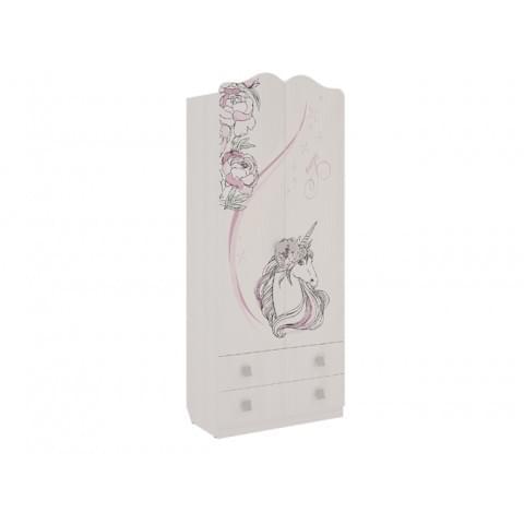 Шкаф комбинированный Фэнтези с ящиками 2-створчатый